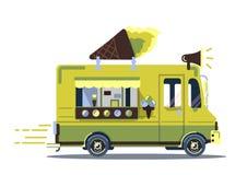 Retro rocznika lody ciężarówka fotografia royalty free