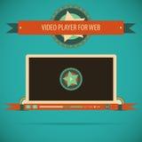 Retro rocznika odtwarzacz wideo interfejs dla sieci Zdjęcie Royalty Free