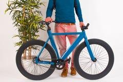 Retro rocznika rower w Białym tle Obraz Royalty Free