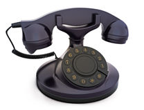 Retro rocznika telefon Obraz Royalty Free