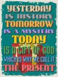 Retro rocznika wycena Motywacyjny plakat również zwrócić corel ilustracji wektora Zdjęcie Royalty Free
