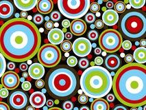 Retro rode blauwgroene cirkels stock illustratie