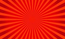 Retro rode glanzende starburstachtergrond Zonnestraal abstracte textuur Vector illustratie Royalty-vrije Stock Foto's