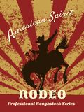 Retro rodeo poster Royalty Free Stock Image