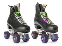 Retro roller skates Stock Images