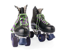 Retro roller skates isolated Stock Images