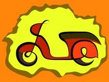 Retro- Rollerzeichen Lizenzfreies Stockbild
