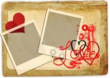 retro romantiker stock illustrationer