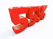 Retro Rood Percententeken Royalty-vrije Stock Afbeelding