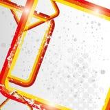 Retro roodachtige de frames van Grunge achtergrond eps 10 Stock Afbeelding