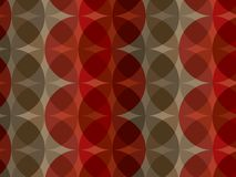 Retro roodbruin cirkelpatroon royalty-vrije illustratie