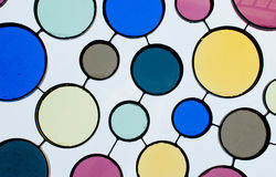 Retro roof. Refto circles of color on a roof of a pavment Royalty Free Stock Photography