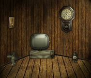 Retro room. Antique room with retro appliance Royalty Free Stock Images