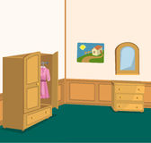 Retro room with wardrobe Stock Image