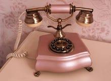 Retro rosa del telefono Immagini Stock