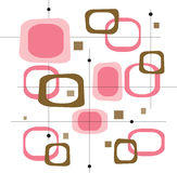 Retro- rosafarbene Quadrate (Vektor) stock abbildung