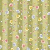 Retro-rosas, papel de parede Imagem de Stock