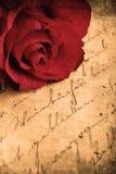 Retro Rose. Retro look of beautiful red rose Stock Images
