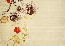 Retro roses. Illustration of roses on vintage paper Stock Images