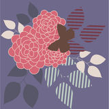 Retro roses. Retro stylized bouquet of red roses vector illustration