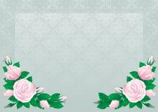 Retro roses background Royalty Free Stock Image