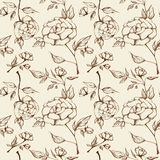 Retro roses pattern Stock Image