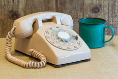 Retro rotary dial telephone Royalty Free Stock Images