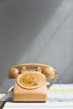 Retro rotary dial telephone Stock Images