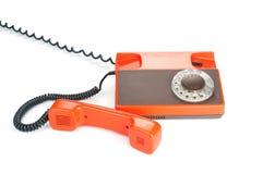 Retro rotary phone isolated on white Stock Photography