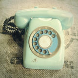 Retro rotary telephone Royalty Free Stock Photos