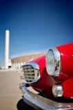 Retro- rotes Auto stockfotografie