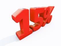 Retro- rotes Prozent-Zeichen Stockfoto