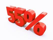 Retro- rotes Prozent-Zeichen Lizenzfreie Stockbilder