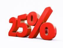 Retro- rotes Prozent-Zeichen Lizenzfreies Stockfoto