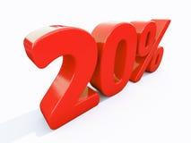 Retro- rotes Prozent-Zeichen Lizenzfreie Stockfotos