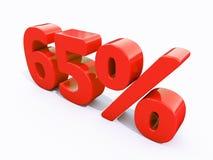 Retro- rotes Prozent-Zeichen Lizenzfreies Stockbild