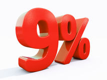 Retro- rotes Prozent-Zeichen Stockfotografie
