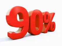 Retro- rotes Prozent-Zeichen Stockbilder