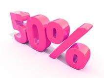 Retro- rotes Prozent-Zeichen Stockbild