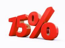 Retro- rotes Prozent-Zeichen Stockfotos