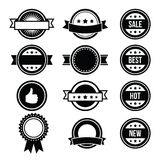 Retro round badges, vintage labels set -  Stock Photo