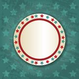 Retro Round Frame on Blue Background Royalty Free Stock Images