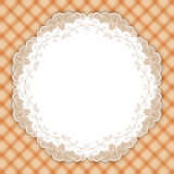 Retro round lace frame Royalty Free Stock Photo