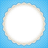 Retro round lace frame Royalty Free Stock Image