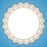 Retro round lace frame Stock Photography