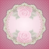 Retro round lace frame Stock Photo