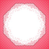Retro round lace frame Royalty Free Stock Photography