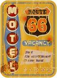 Retro route 66 Motel royalty-vrije illustratie