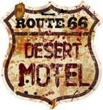 Retro route 66 Motel sign Royalty Free Stock Photography