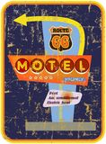 Retro route 66 Motel sign Stock Image